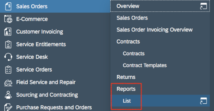 Bösch ERP - Working with Reports in SAP Business ByDesign