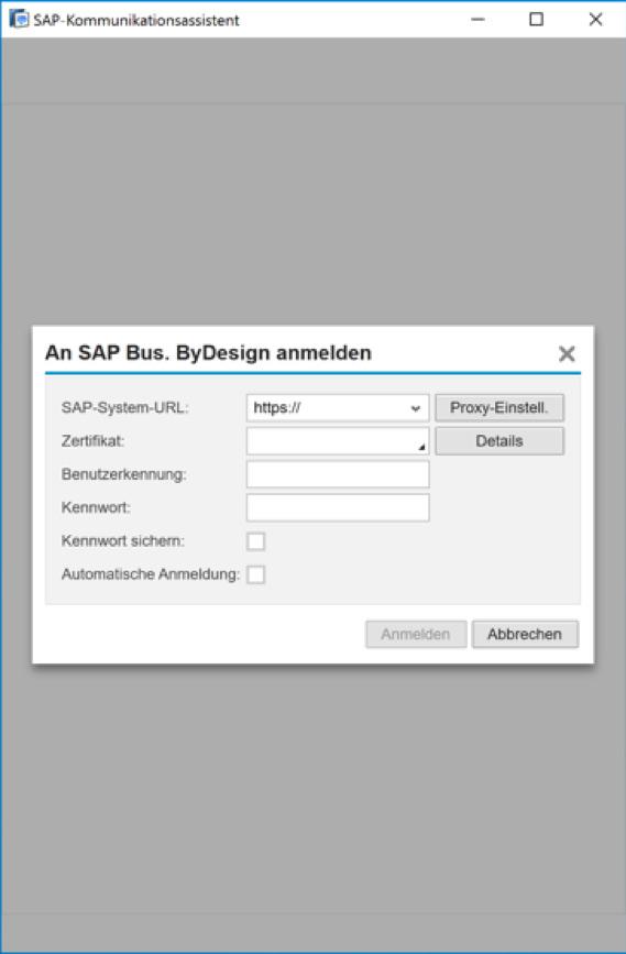SAP-Kommunikationsassistent