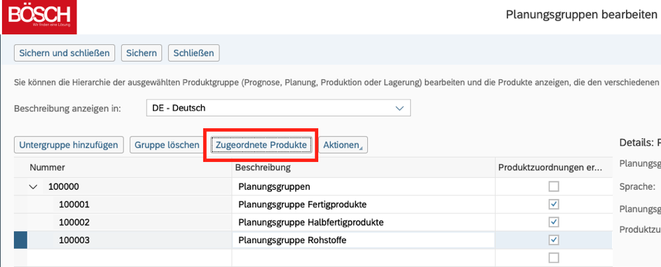 Gruppieren von Produkten mittels Produktgruppen in SAP Business ByDesign